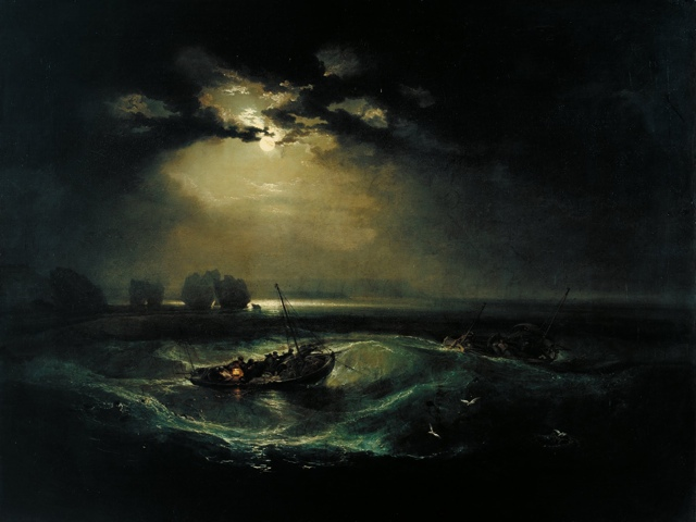 Fisherman at Sea painting by J. M. W. Turner